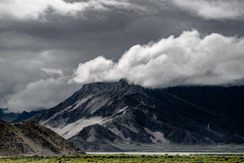 Cenário do Tibet de China fotografia de stock