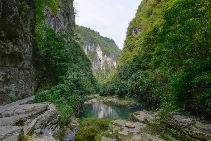 Cenário do verão da cidade antiga de Hunan Xiangxi Fenghuang fotos de stock royalty free