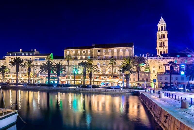 Cenário famoso na separação da cidade do UNESCO, Croácia imagens de stock royalty free