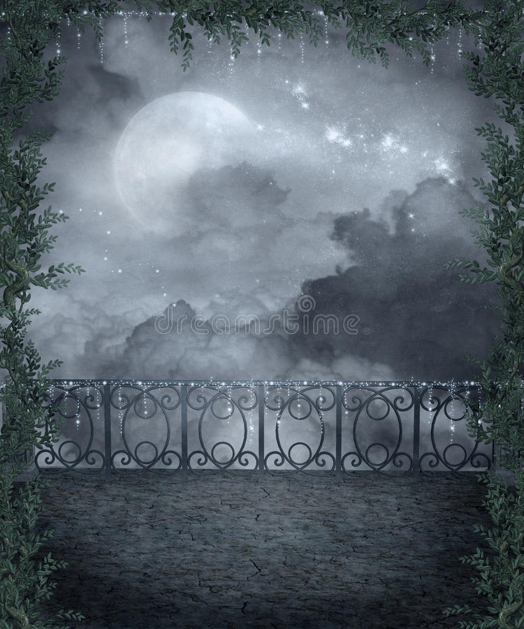 Cenário gótico 107 ilustração royalty free