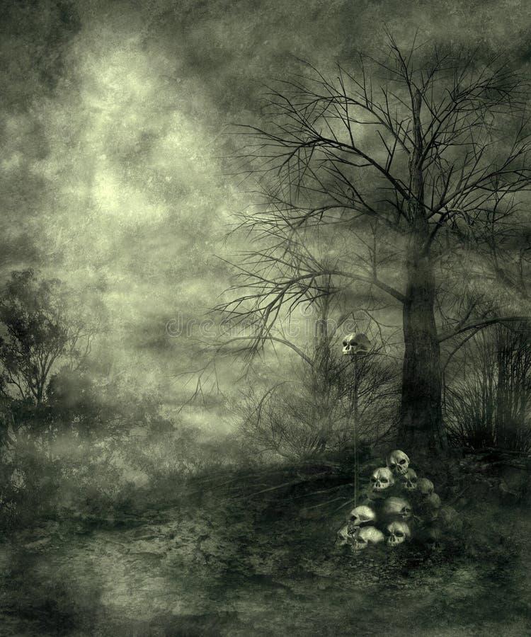 Cenário gótico 28 ilustração royalty free