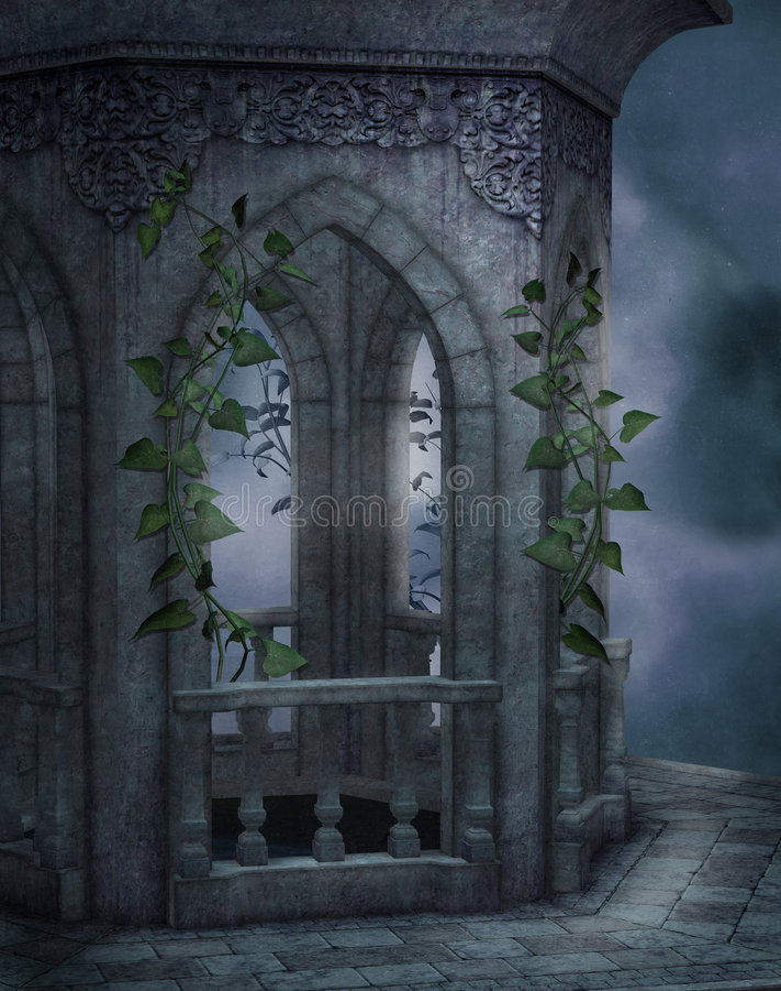Cenário gótico 31 ilustração do vetor