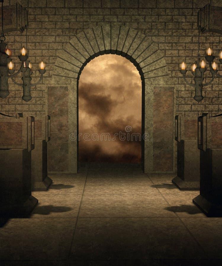 Cenário gótico 35 ilustração stock