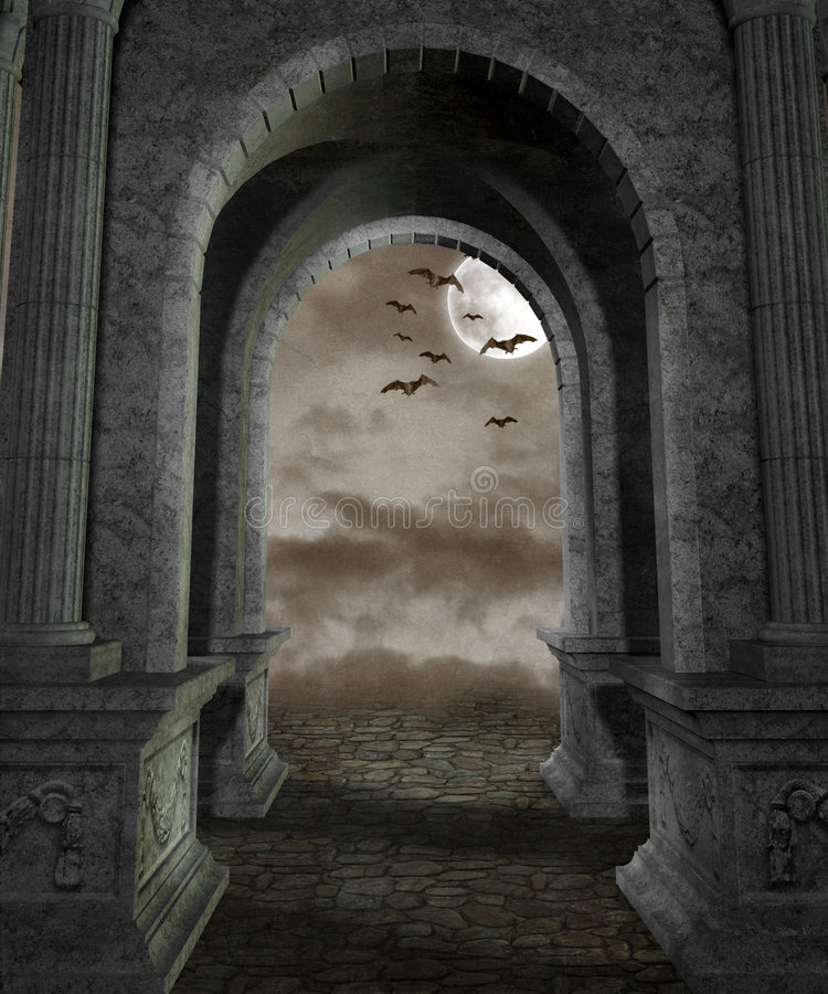 Cenário gótico 44 ilustração royalty free