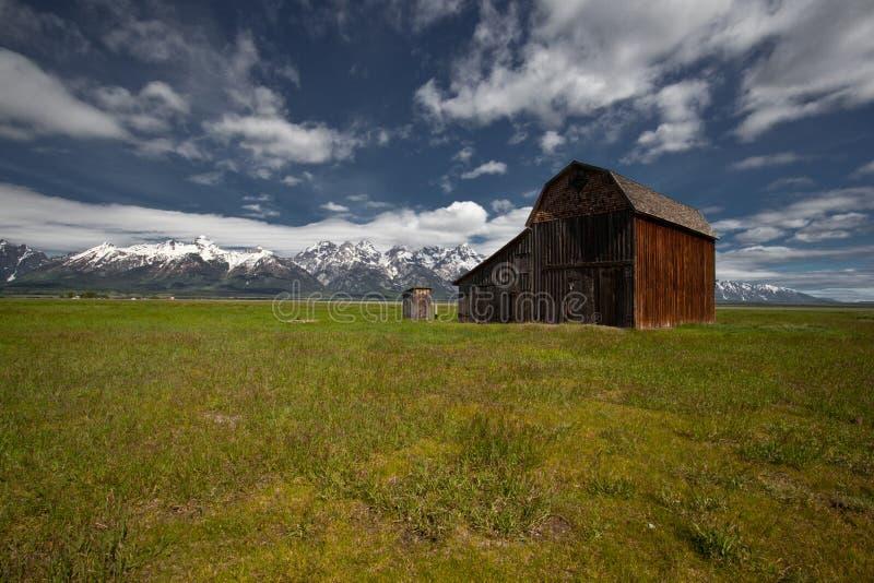 Cenário grande do parque nacional de Tetons imagens de stock