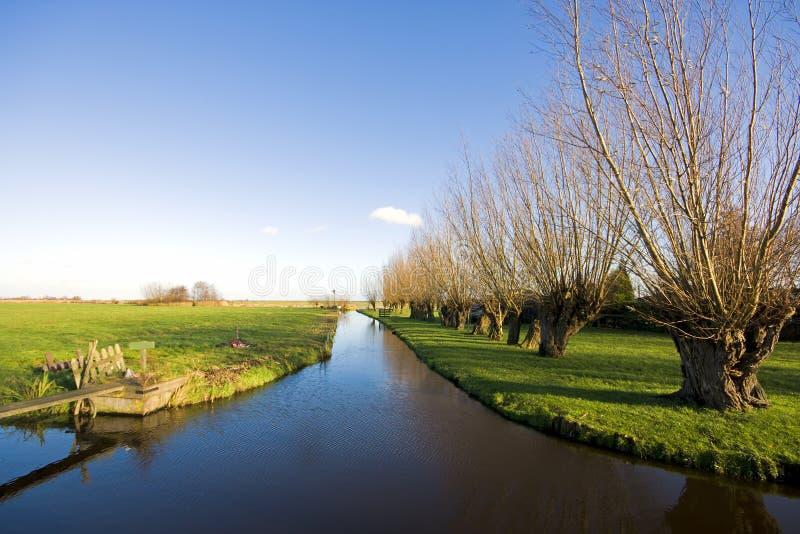 Cenário holandês rural imagens de stock