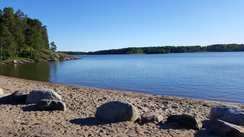 Cenário idílico do beira-mar em Finlandia foto de stock royalty free