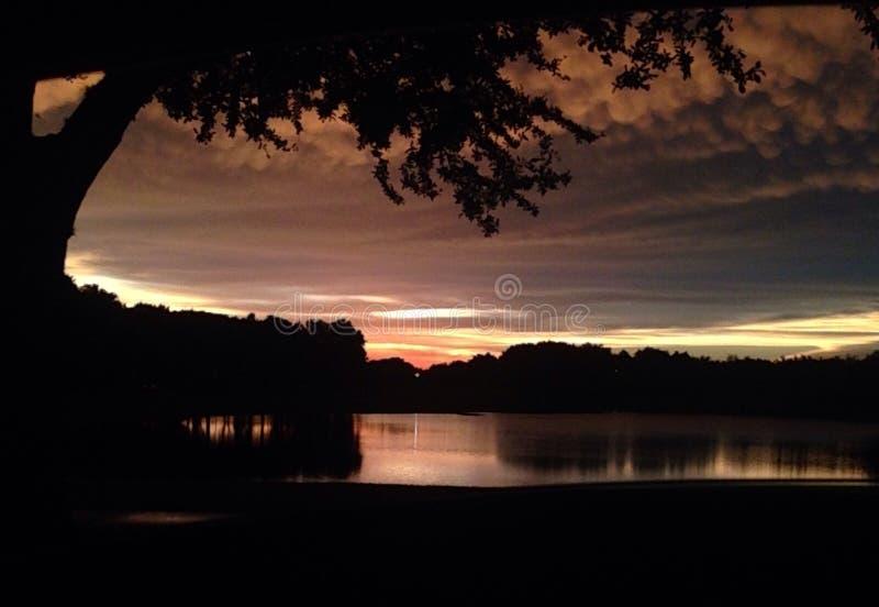 Cenário lindo do por do sol de florida foto de stock royalty free