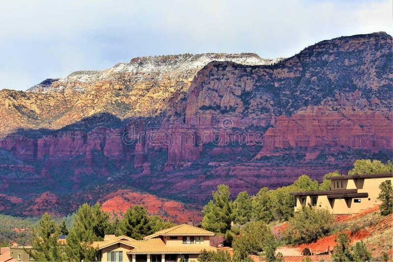 Cenário Maricopa County da paisagem, Sedona, o Arizona, Estados Unidos foto de stock