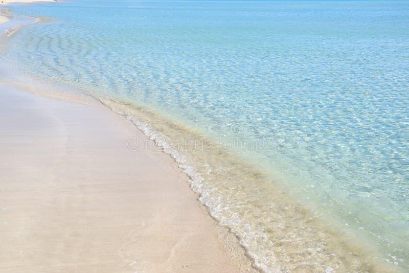 Cenário na costa Ionian em Salento, Itália fotos de stock royalty free