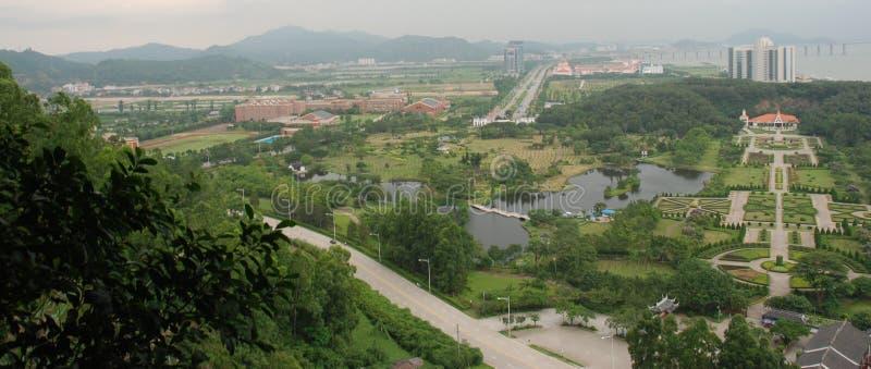 Cenário na porcelana de guangzhou foto de stock