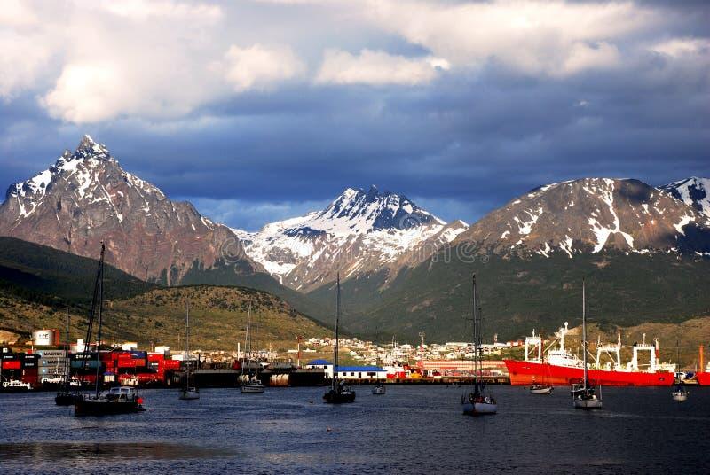 Cenário no canal do lebreiro em Tierra del Fuego imagens de stock royalty free