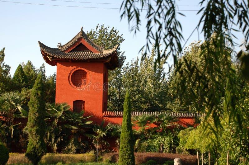Cenário no templo chinês foto de stock