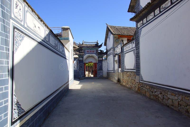Cenário rural em torno do lago Erhai e do Dali, província de Yunnan, China imagens de stock