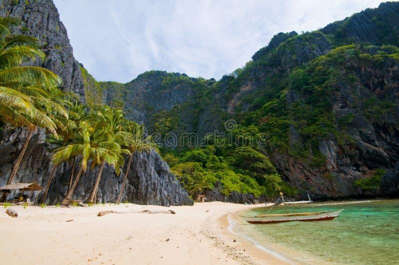 Cenário selvagem exótico da praia fotos de stock