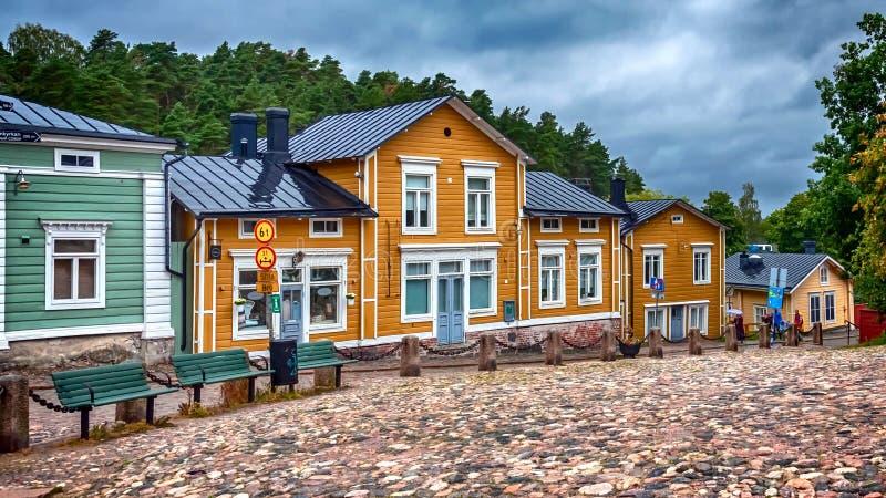 Cenário urbano em Porvoo, Finlândia fotografia de stock royalty free