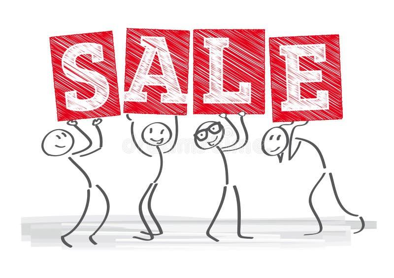 Cen sprzedaży etykietki royalty ilustracja