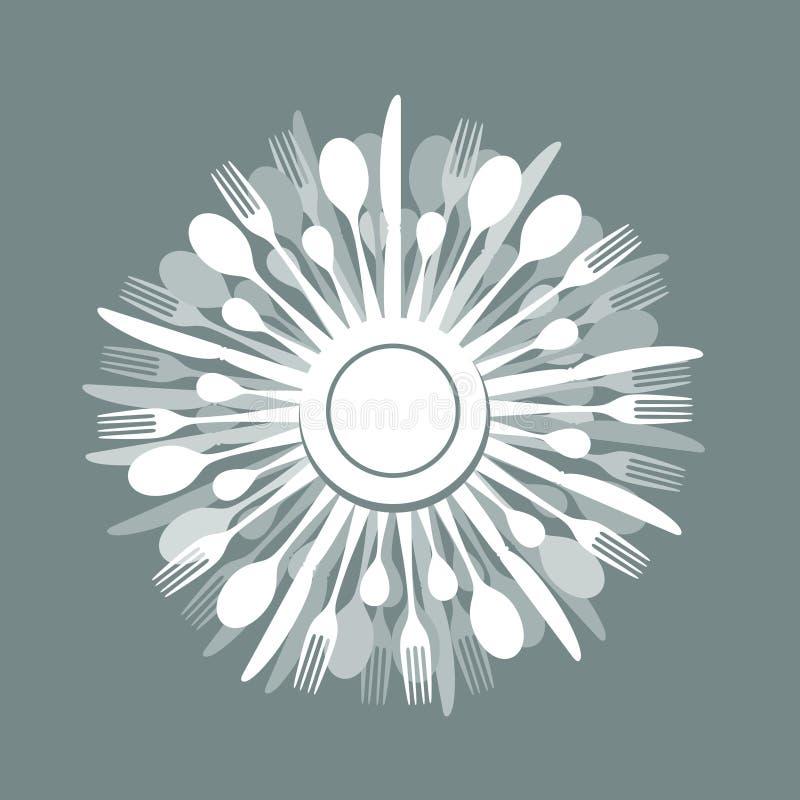 cena ilustración del vector