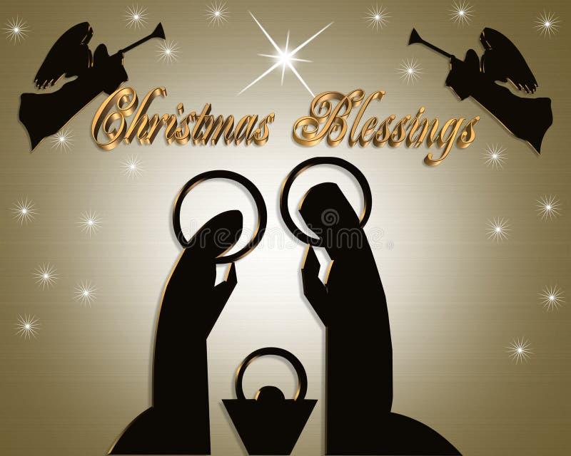 Cena abstrata da natividade do Natal ilustração royalty free