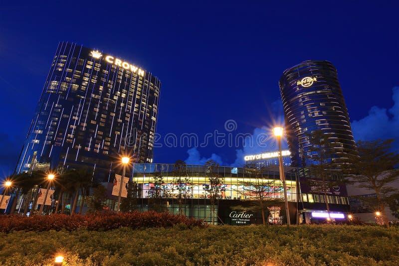 Cena bonita em Macau no crepúsculo imagens de stock royalty free