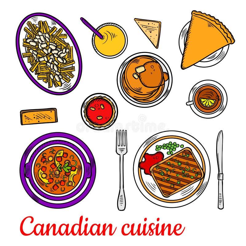 Cena canadiense de la cocina con los postres y las bebidas for La cocina de lechuza postres
