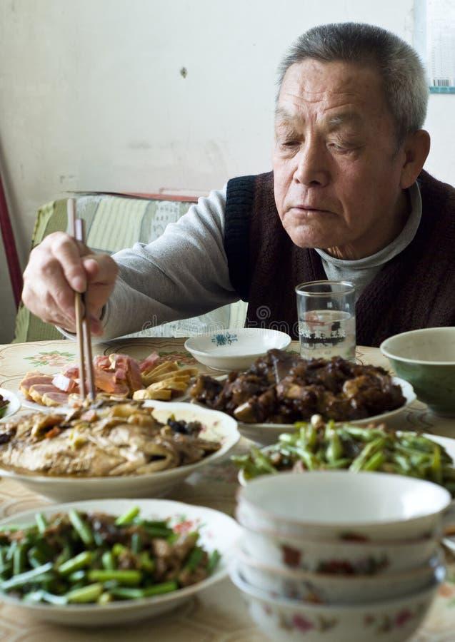 Cena china de la familia foto de archivo