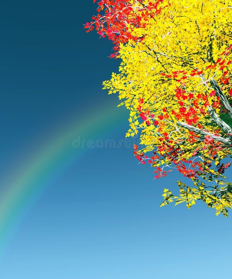 Cena colorida do outono ilustração do vetor