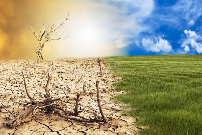 Cena conceptual, alterações climáticas fotografia de stock royalty free