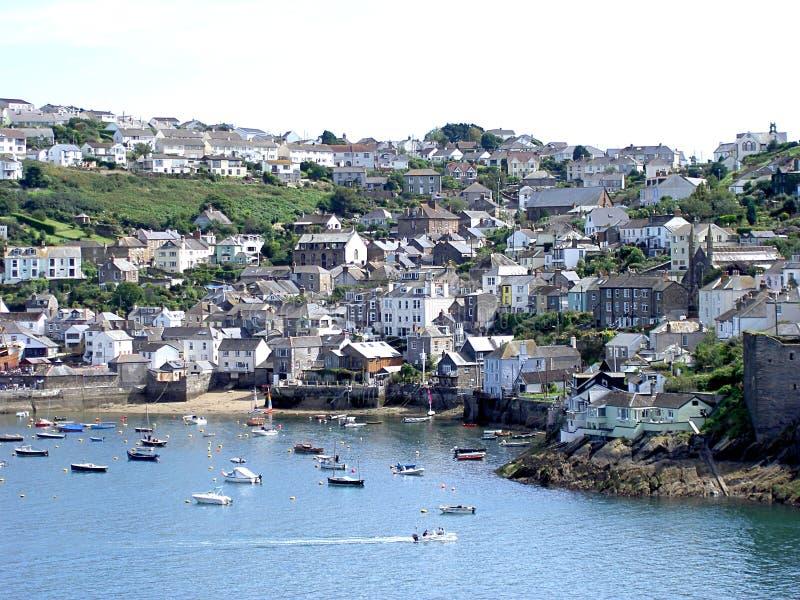 Cena Cornish do porto fotografia de stock royalty free