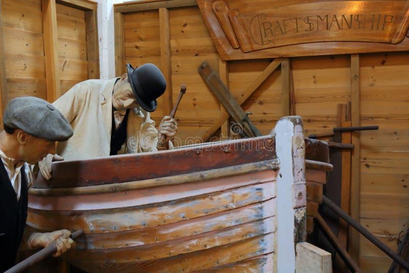 Cena Crafting do barco fotografia de stock