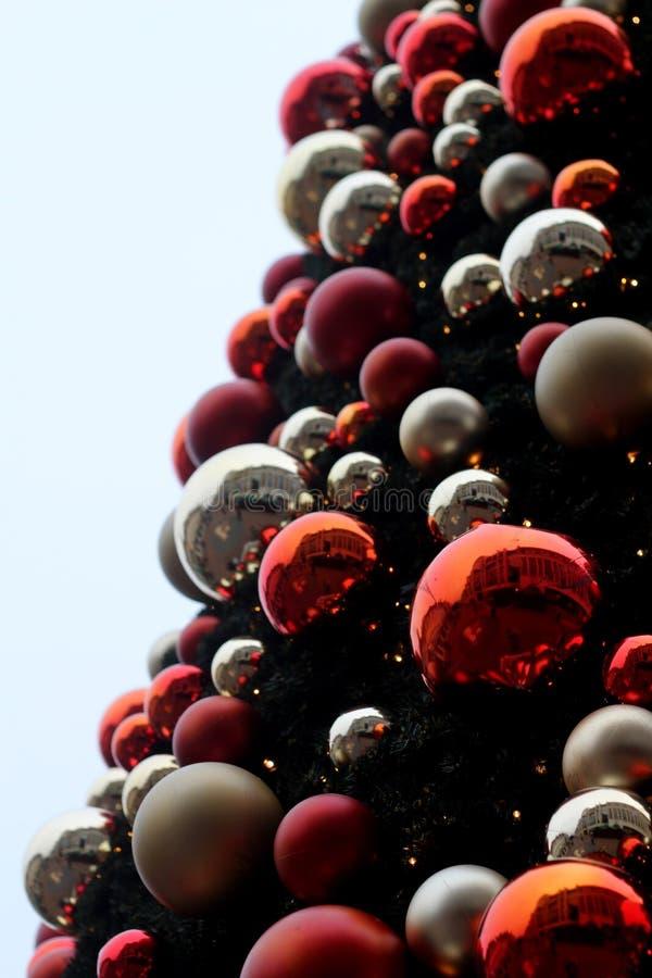 Cena da árvore de Natal fotografia de stock