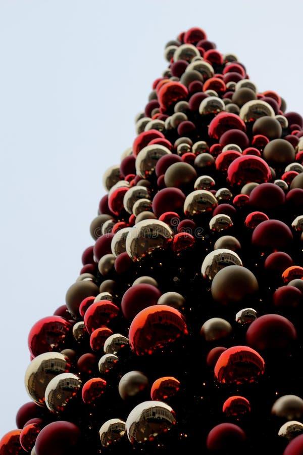 Cena da árvore de Natal foto de stock royalty free