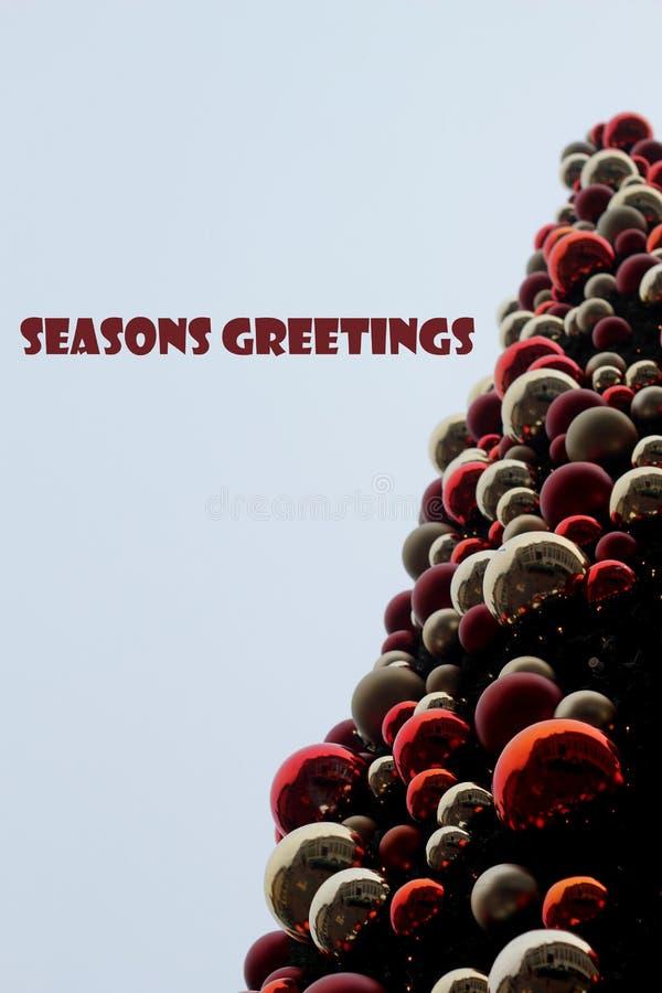 Cena da árvore de Natal imagens de stock