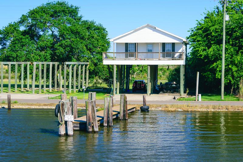 Cena da albufeira de Louisiana fotografia de stock royalty free