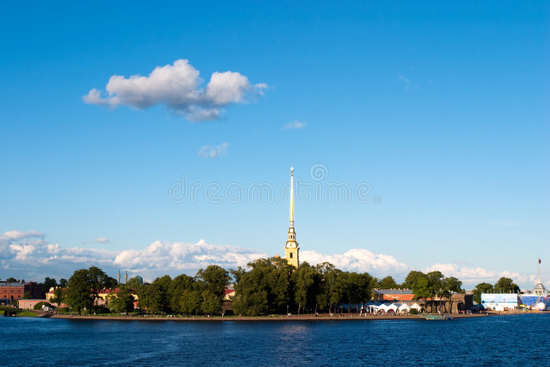 Cena da cidade de St Petersburg fotografia de stock