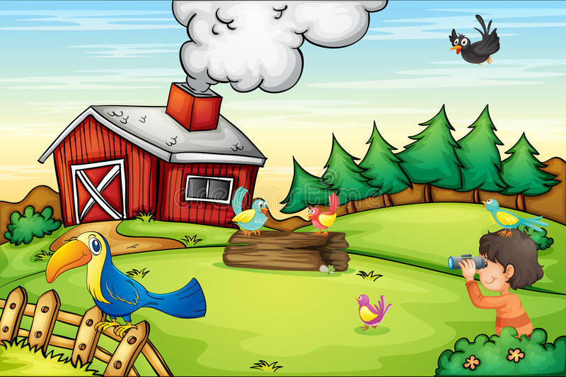 Cena da exploração agrícola ilustração do vetor
