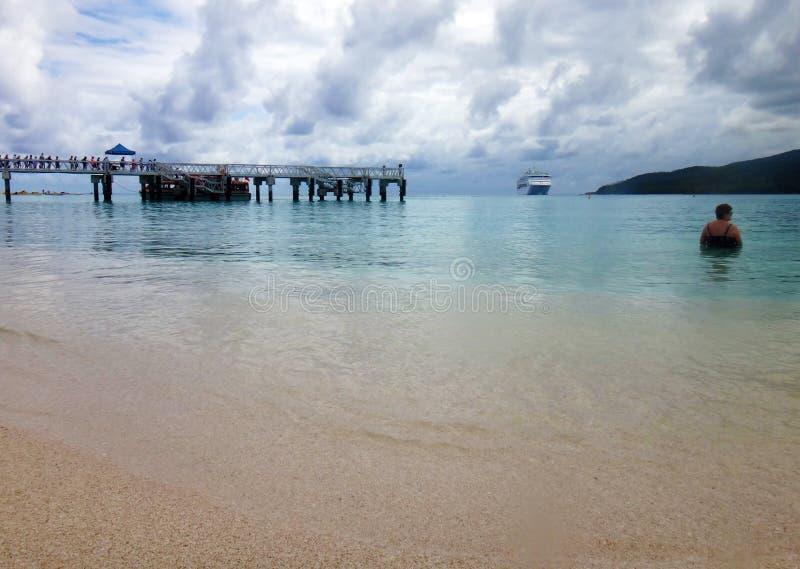 Cena da ilha do mistério, Aneityum, Vanuatu imagens de stock royalty free