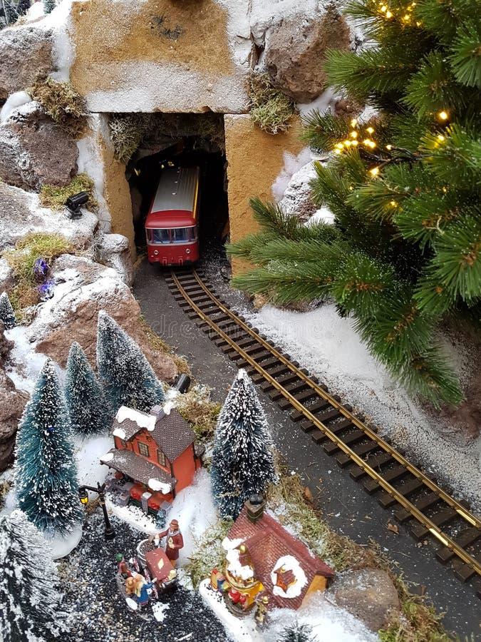 Cena da miniatura do inverno imagens de stock royalty free