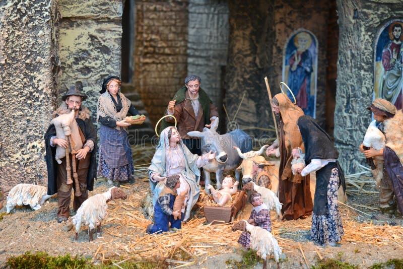Cena da natividade de Vatican foto de stock royalty free