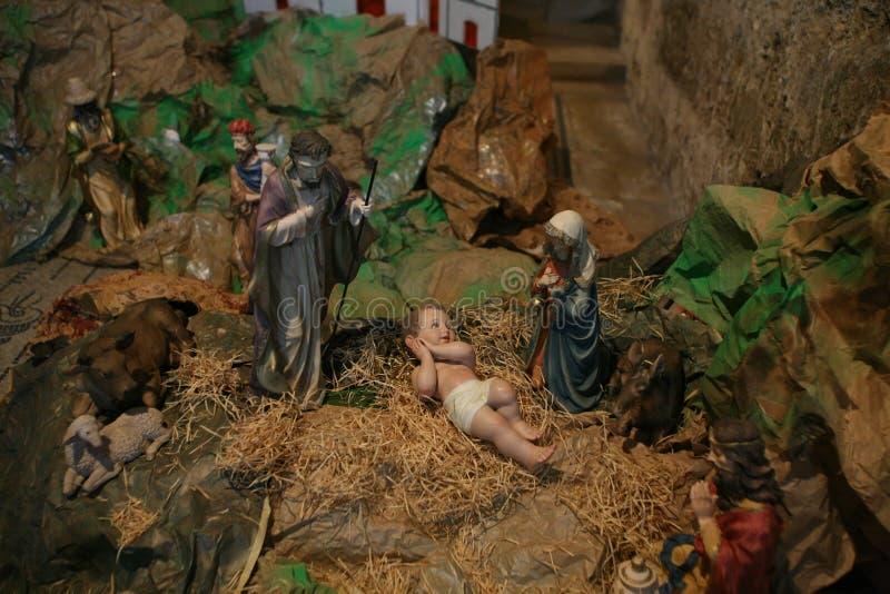 Cena da natividade, igreja de Ein Karem da visitação fotos de stock