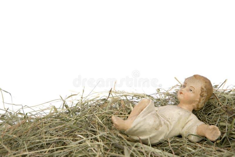 Cena da natividade no fundo branco foto de stock royalty free