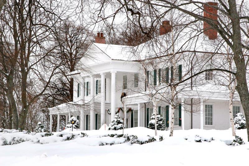 Cena da neve imagens de stock royalty free