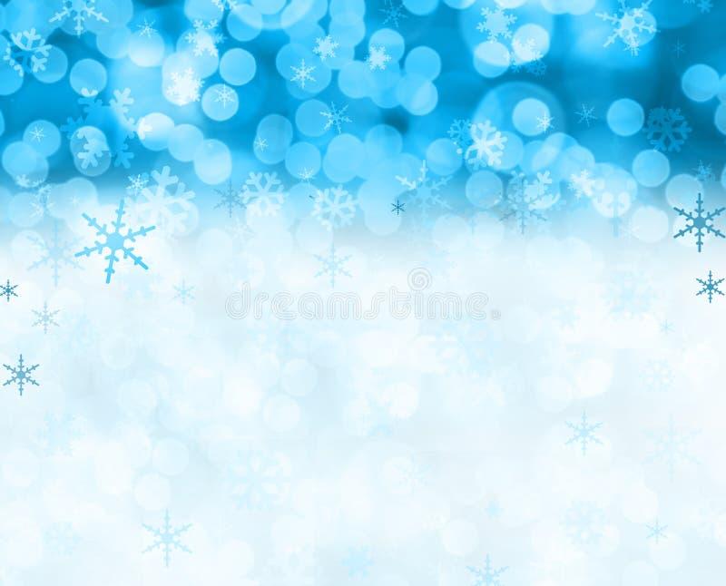 Cena da neve do Natal fotografia de stock royalty free
