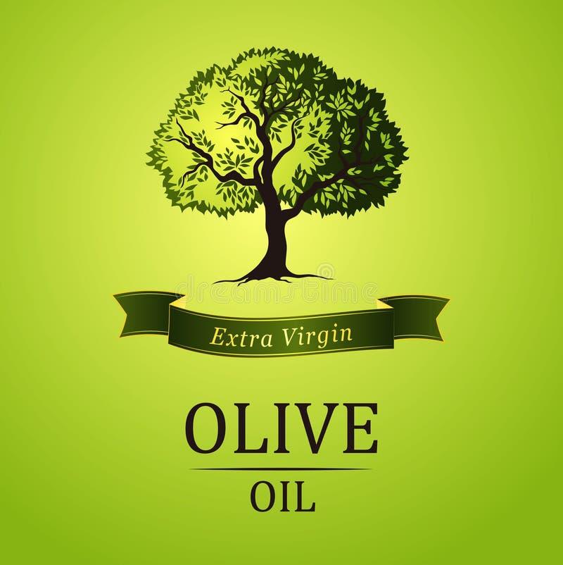 Cena da noite Árvore verde do vetor folhas do verde amarelo ilustração do vetor