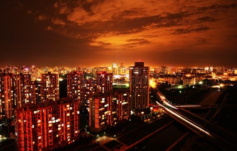 Cena da noite de Beijing imagem de stock royalty free