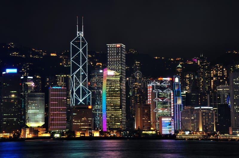 Cena da noite de Hong Kong foto de stock royalty free