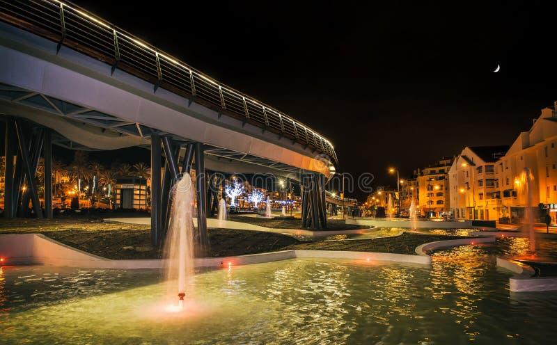 Cena da noite de San Pedro Boulevard Marbella Andalusia Spain fotos de stock