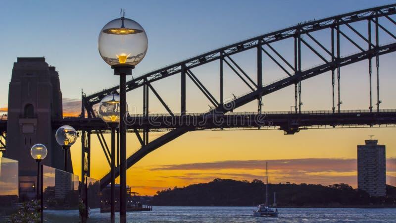 Cena da noite de Sydney imagens de stock