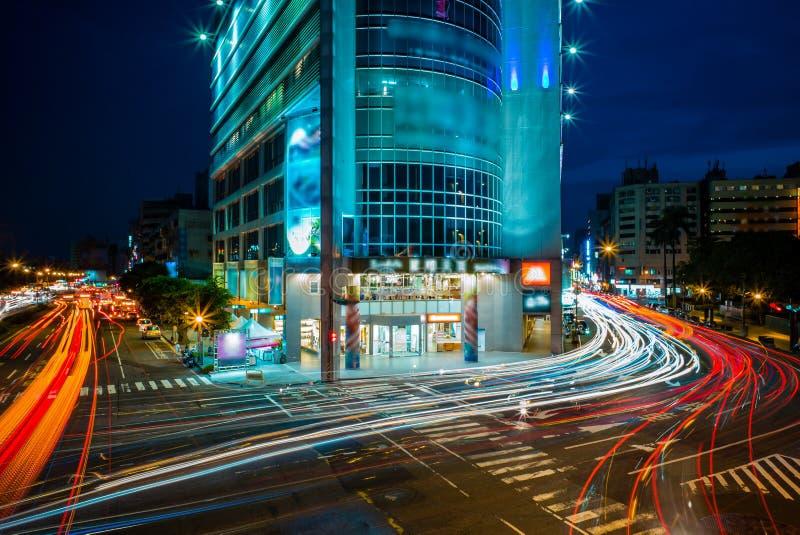 Cena da noite de Taichung fotos de stock royalty free