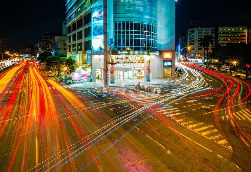Cena da noite de Taichung imagens de stock royalty free